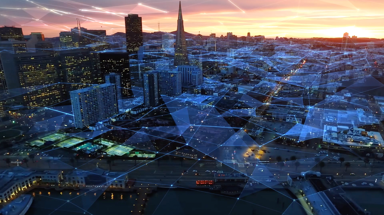 BW cityscape